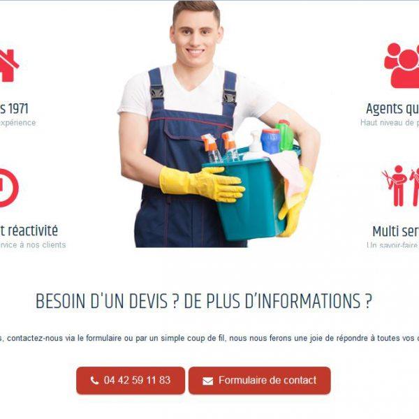 Création du site nettoyage pays d'aix
